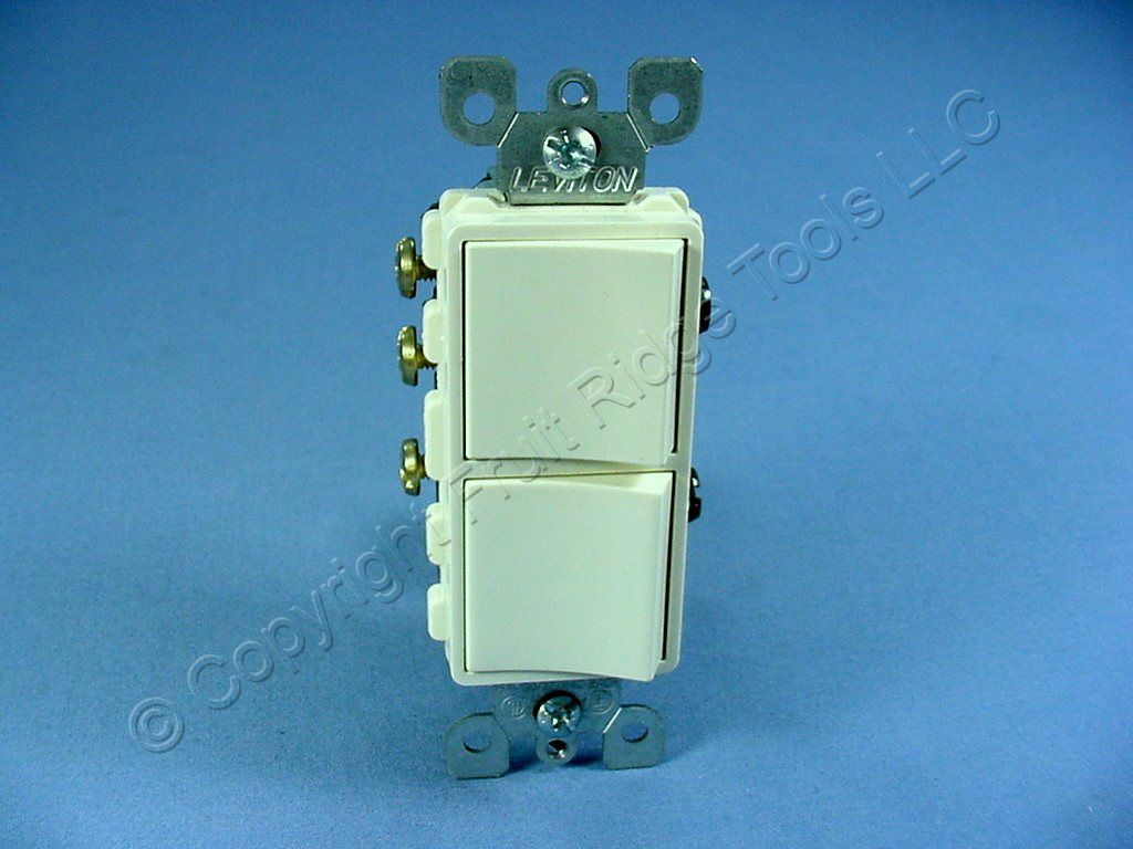 similiar double 3 way switch keywords leviton almond decora sp 3 way double light switch duplex rocker 5641