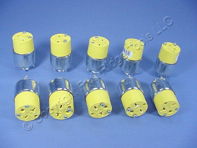 10 Leviton ARMORED Connector Plugs 6-20 20A 250V 620CA