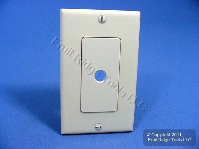 new leviton ivory decora rotary dimmer switch plastic cover wall plate 80400 i ebay. Black Bedroom Furniture Sets. Home Design Ideas