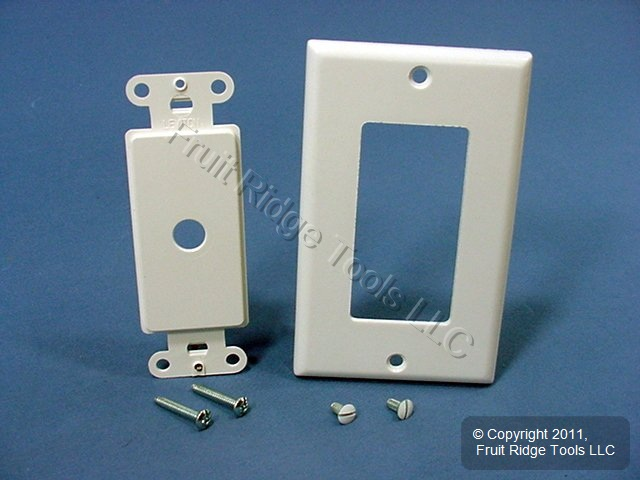 3 leviton white decora rotary dimmer switch covers wall plates 80400 w ebay. Black Bedroom Furniture Sets. Home Design Ideas