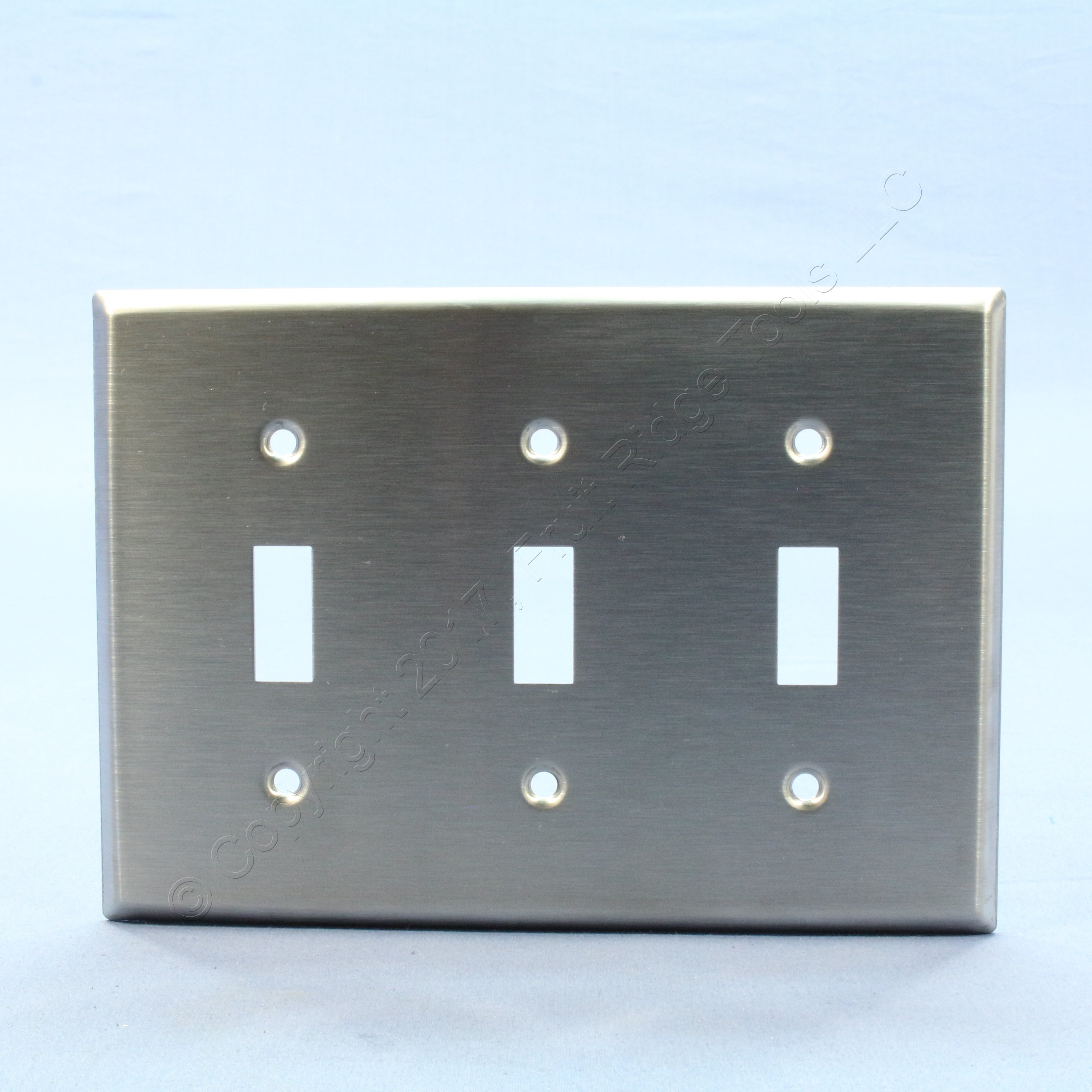 Leviton Stainless Steel 3 Gang Toggle Switch Cover Wall