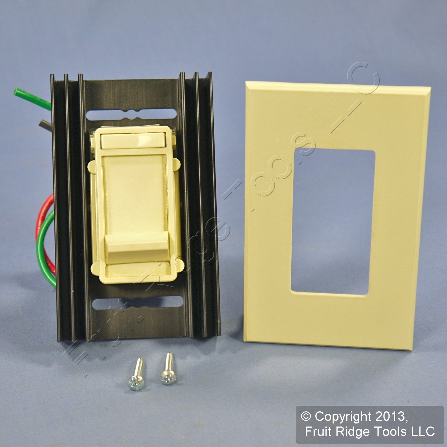 Fluorescent Light Dim: Leviton Fluorescent Ivory Slide Light Dimmer Switch 120V 4