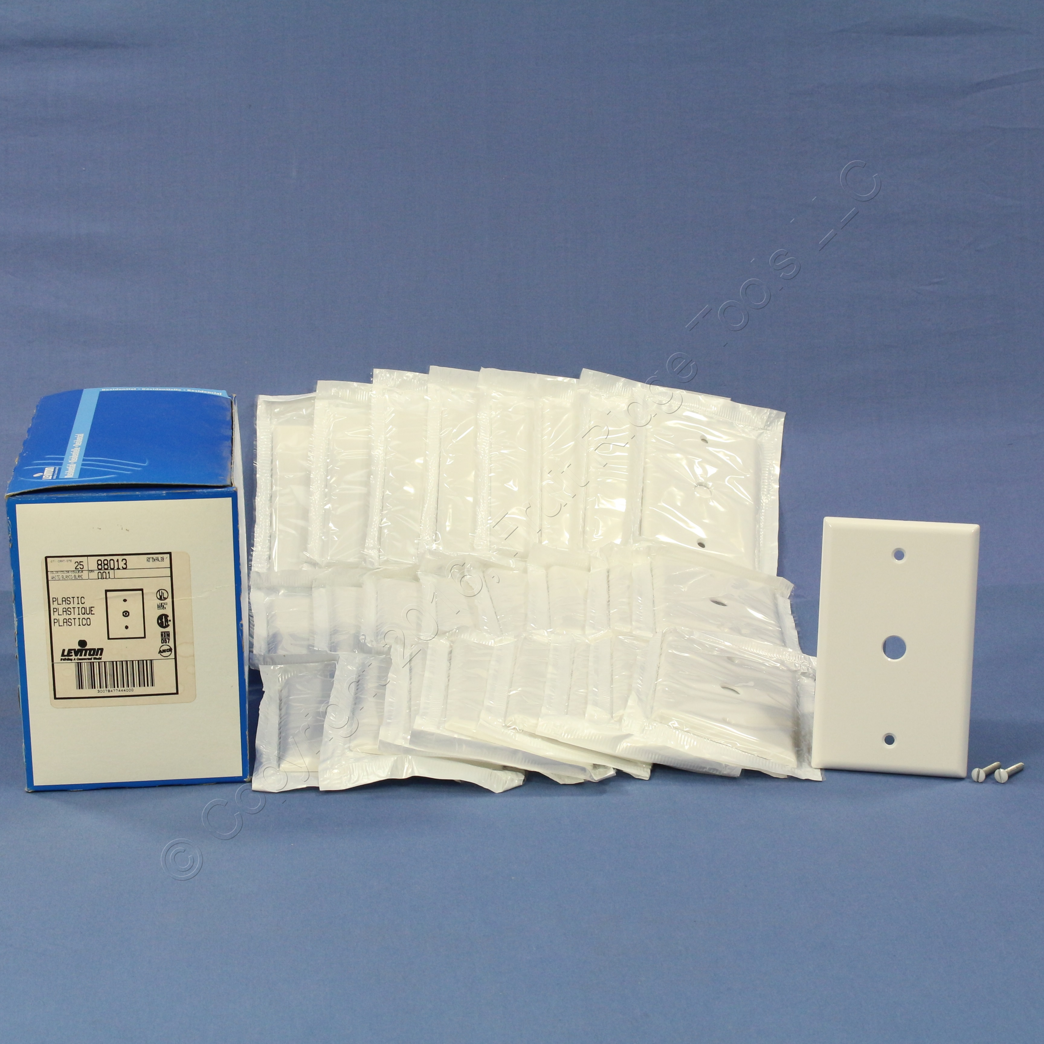 25 leviton white phone cable wallplate telephone cover plates 406 hole 88013 ebay. Black Bedroom Furniture Sets. Home Design Ideas