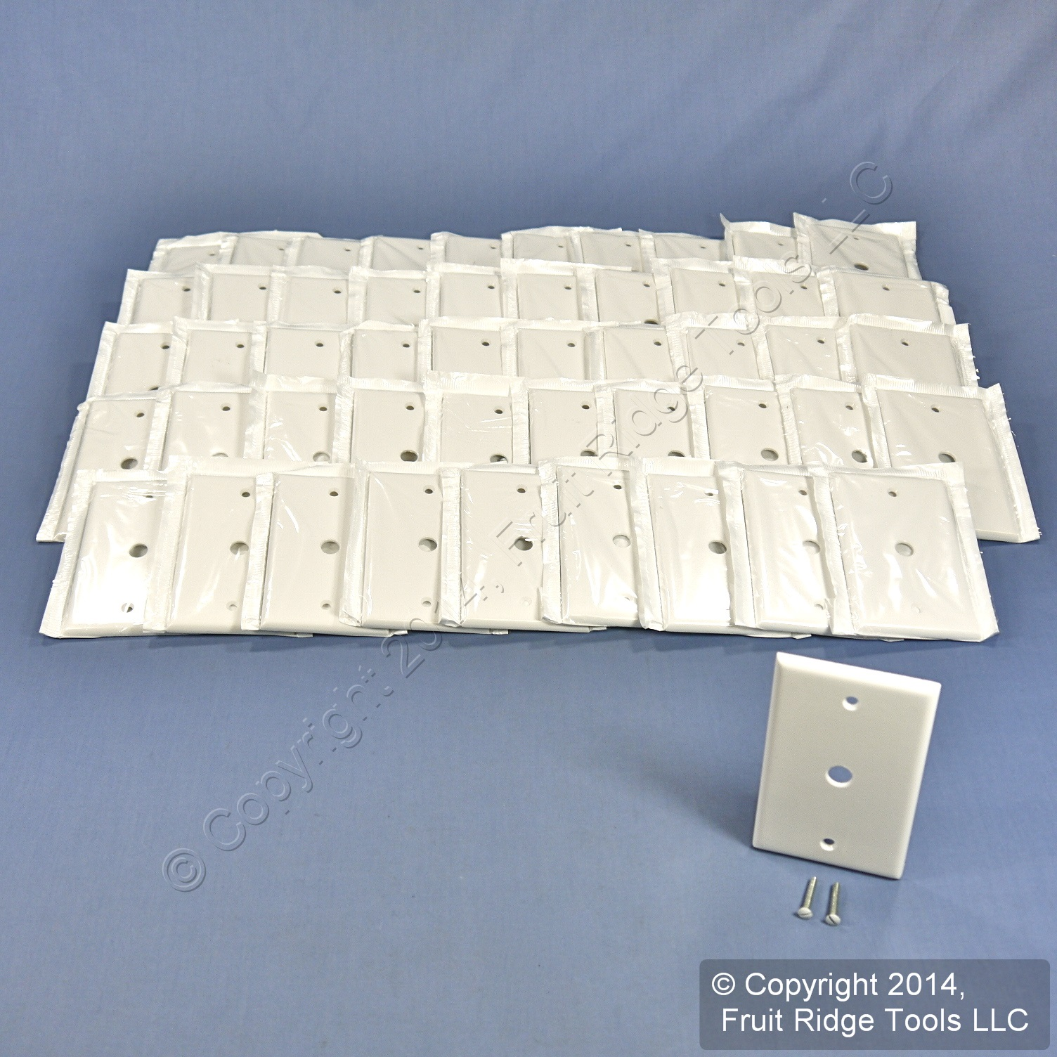 50 leviton white phone cable wallplate telephone cover plates 406 hole 88013 ebay. Black Bedroom Furniture Sets. Home Design Ideas