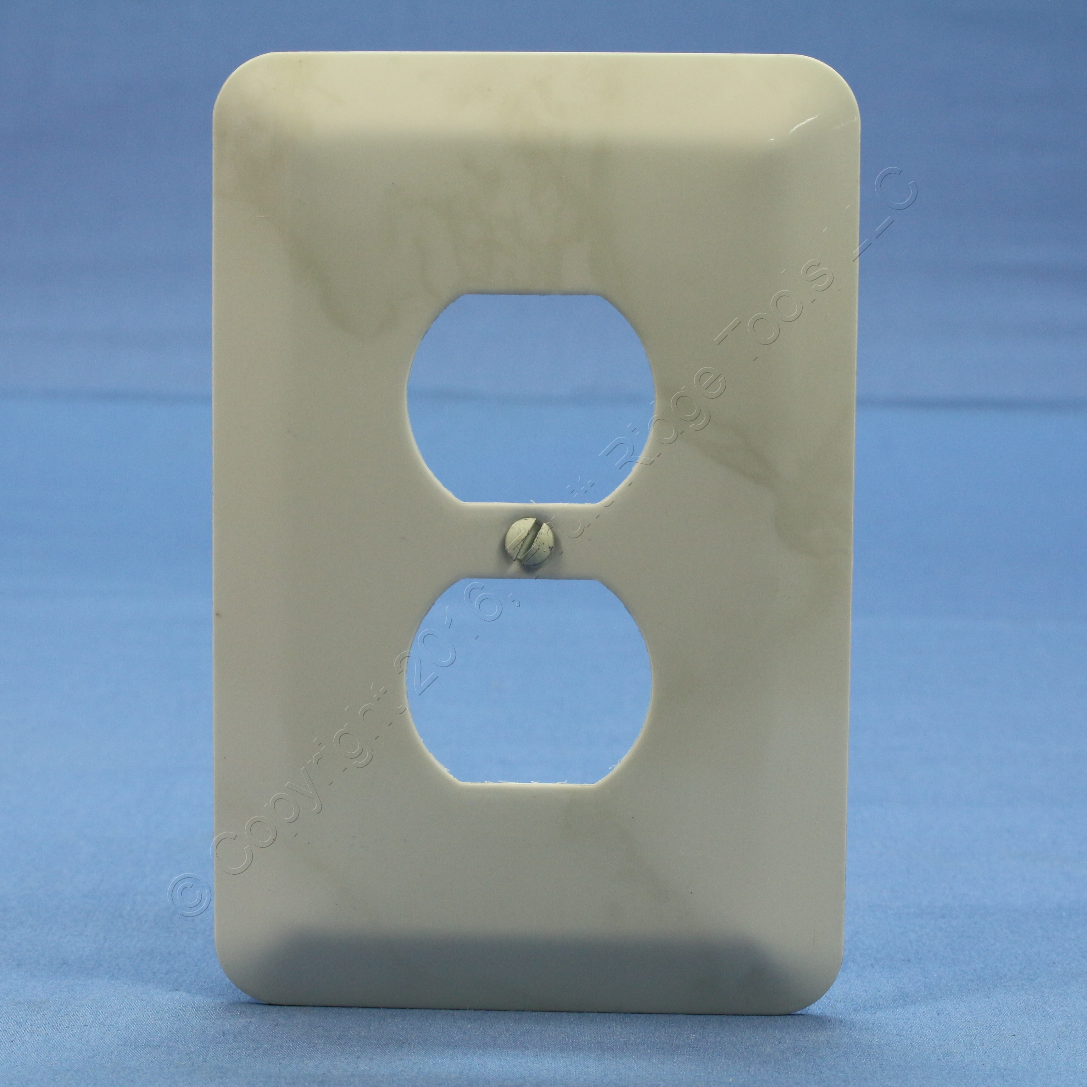 Metal Electrical Outlet Covers Oversized Outlet Covers: Leviton JUMBO Ivory Marble Steel Outlet Cover Oversize