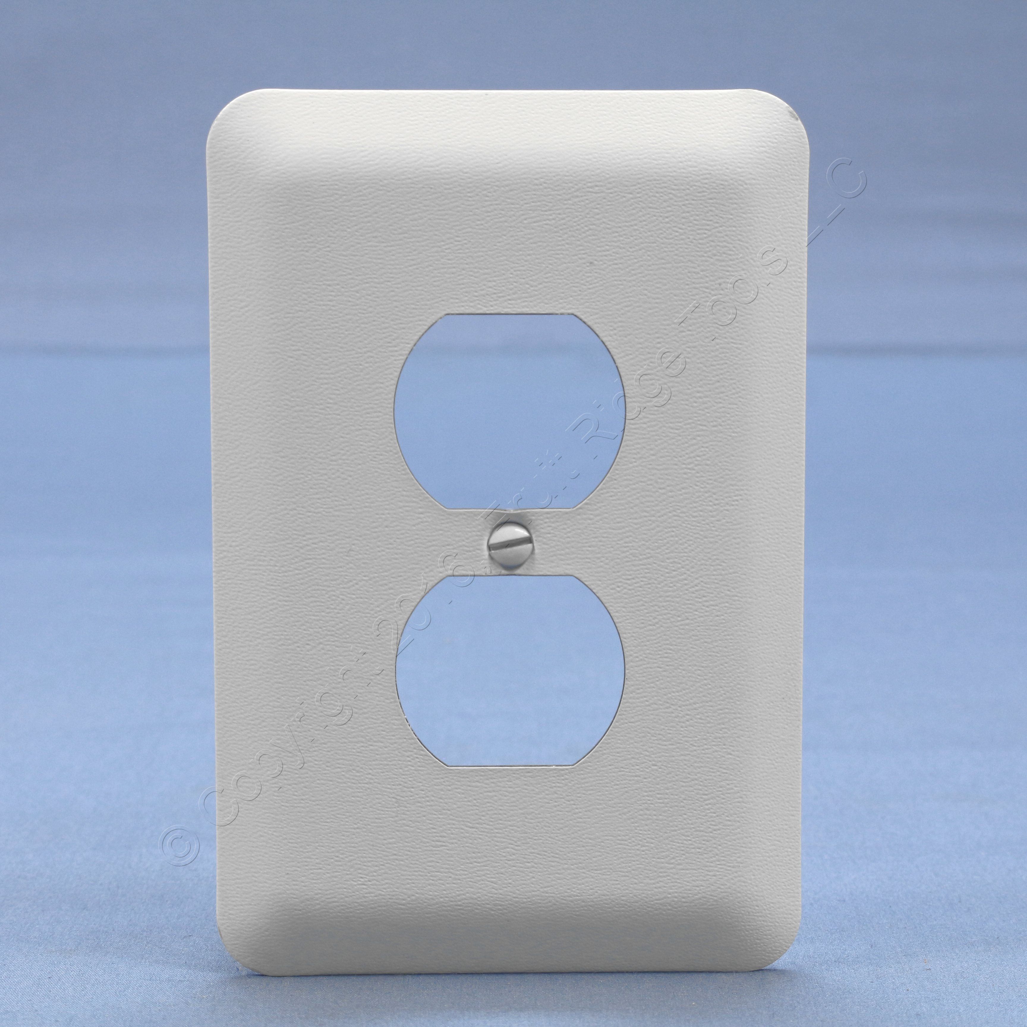 Leviton jumbo white outlet cover oversize duplex Electrical outlet covers
