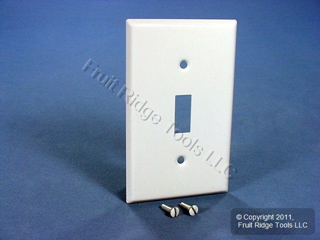 Leviton White Metal Toggle Switch Wall Plate Cover Switchplate 89991