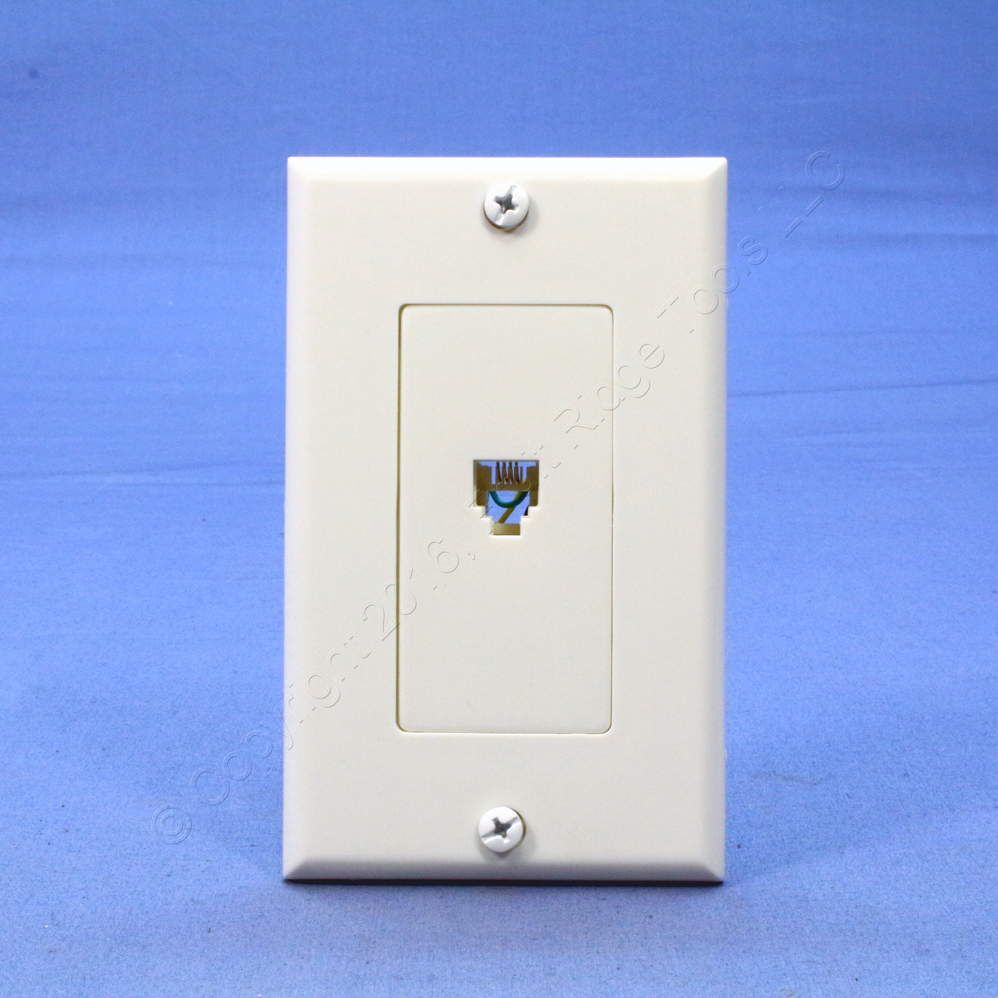 Leviton White Decora Phone Jack Wall Plate Telephone C2449