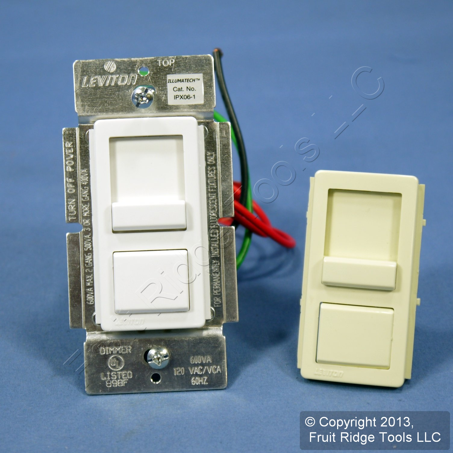 Fluorescent Light Dim: Leviton White Fluorescent Light Dimmer Switch Mark X