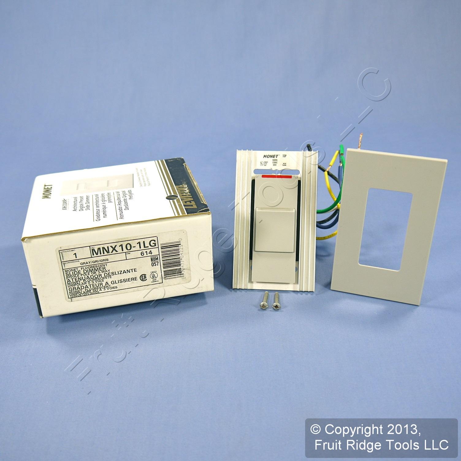 Advance Mark X Dimming Ballast Wiring Diagram: Leviton Gray Monet Fluorescent Slide Light Dimmer Switch