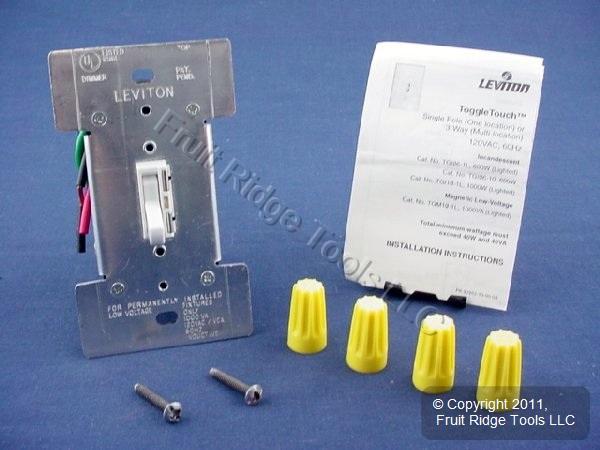 leviton light switch instructions