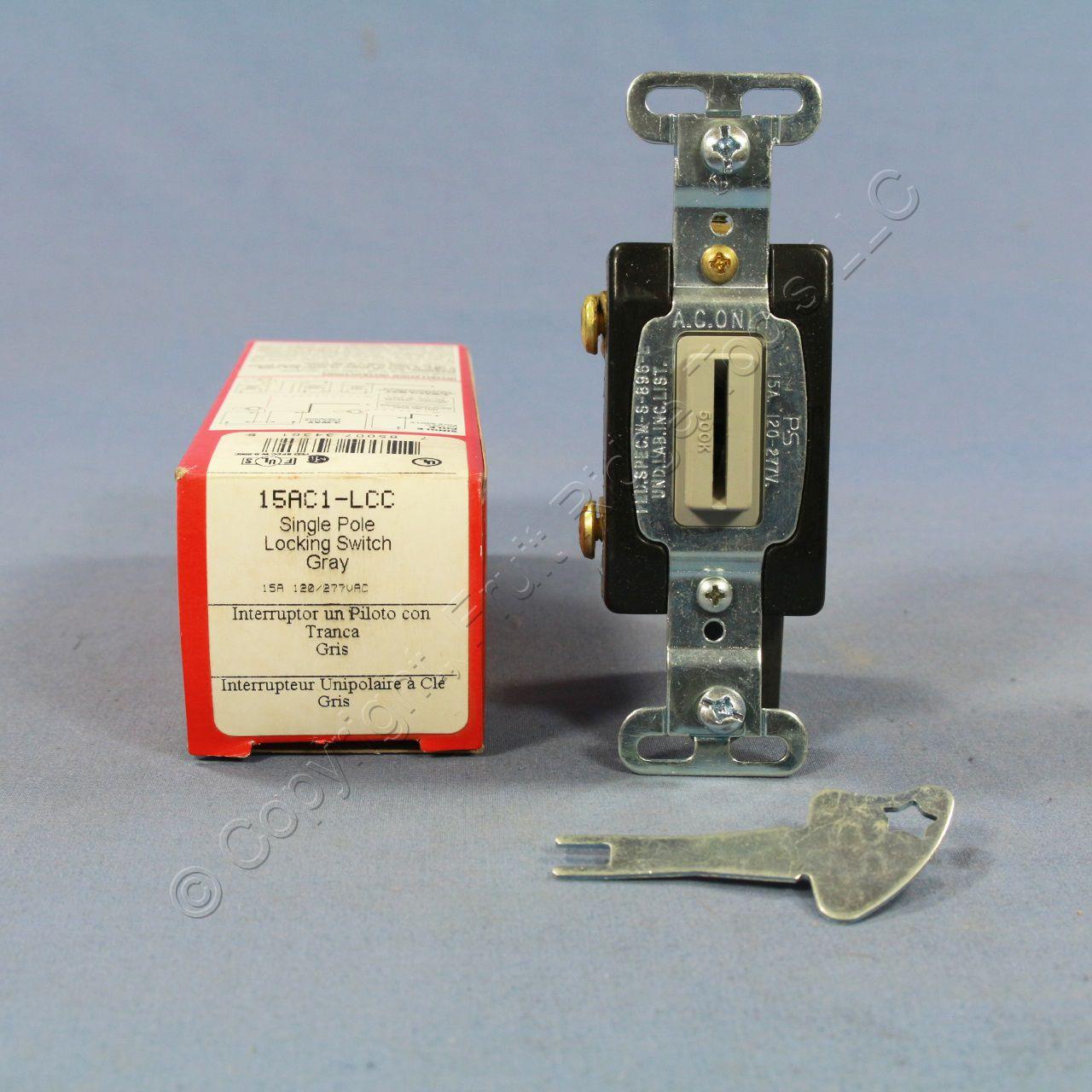 P Amp S Gray Industrial Grade Locking Keyed Light Switch