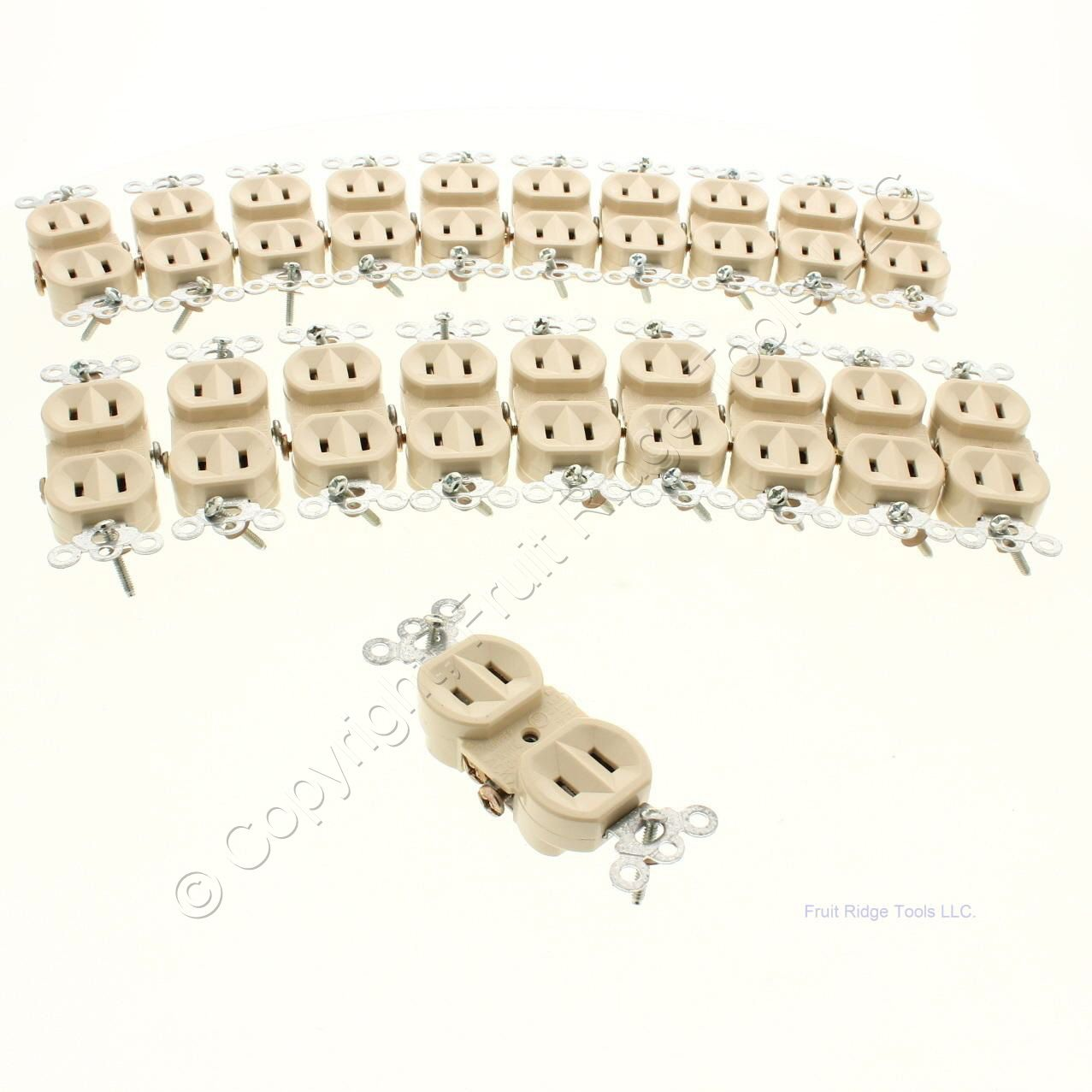 20 p s ivory duplex outlet receptacles non grounded nema 1 15r 15a 125v 4025 i ebay