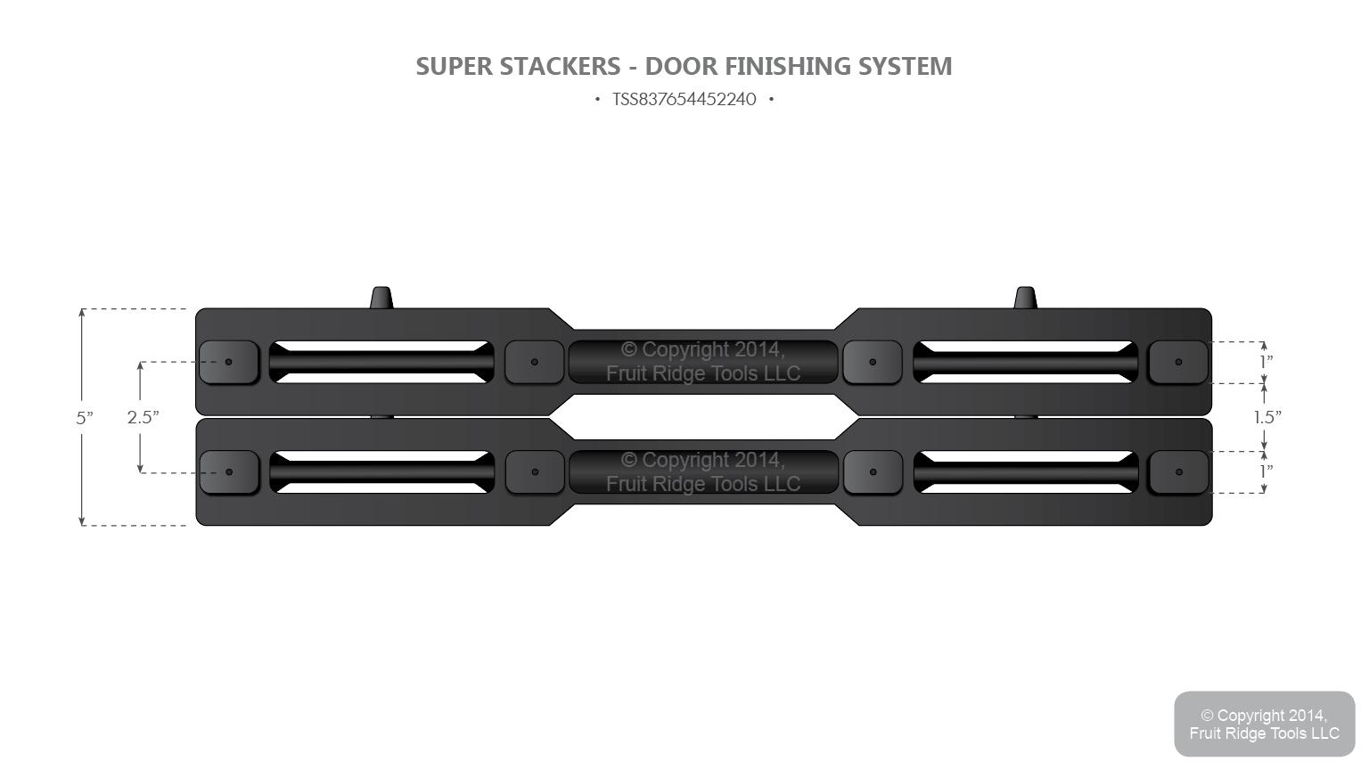 10 Super Stacker Horizontal Door Finishing System for Standard and Bi-Fold Doors  sc 1 st  eBay & 10 Super Stacker Horizontal Door Finishing System for Standard and ... pezcame.com